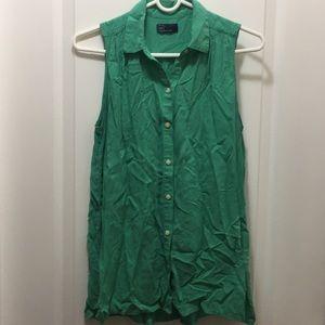 Tank top woven blouse